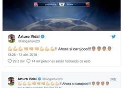 Enlace a Vidal envía un desafiante mensaje al Real Madrid y le dan el zasca de su vida