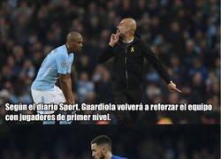 Enlace a Los fichajes que planea Guardiola para evitar otro fracaso en Champions la próxima temporada