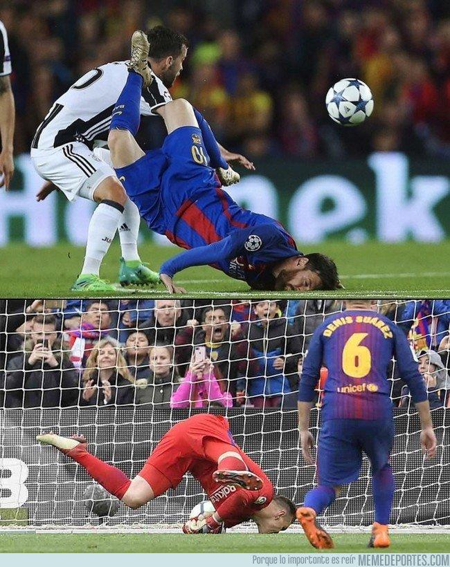 1030471 - El homenaje de Ter Stegen a Messi