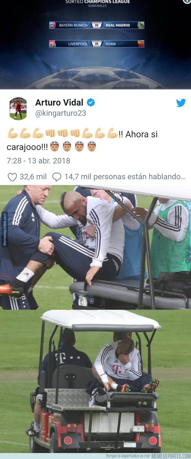 1030563 - Posible lesión de Vidal tras este tuit