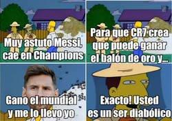 Enlace a El diabólico plan de Messi para el balón de oro