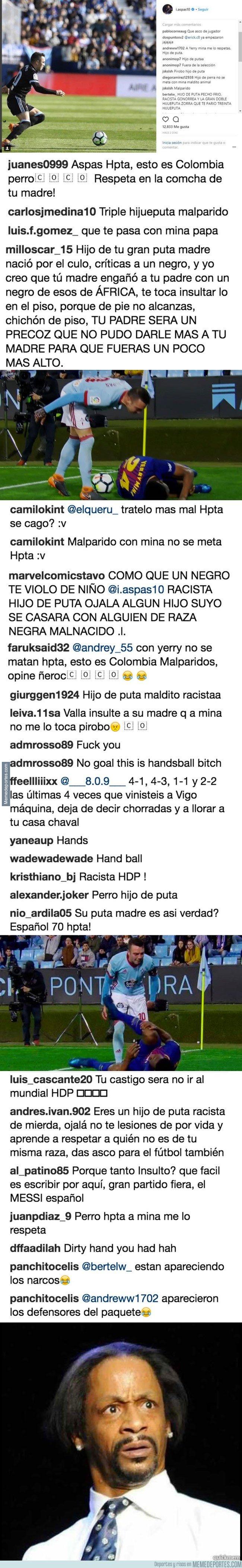 1030865 - Iago aspas se mete con Yerry Mina y no adivinas qué pasó en su perfil de Instagram