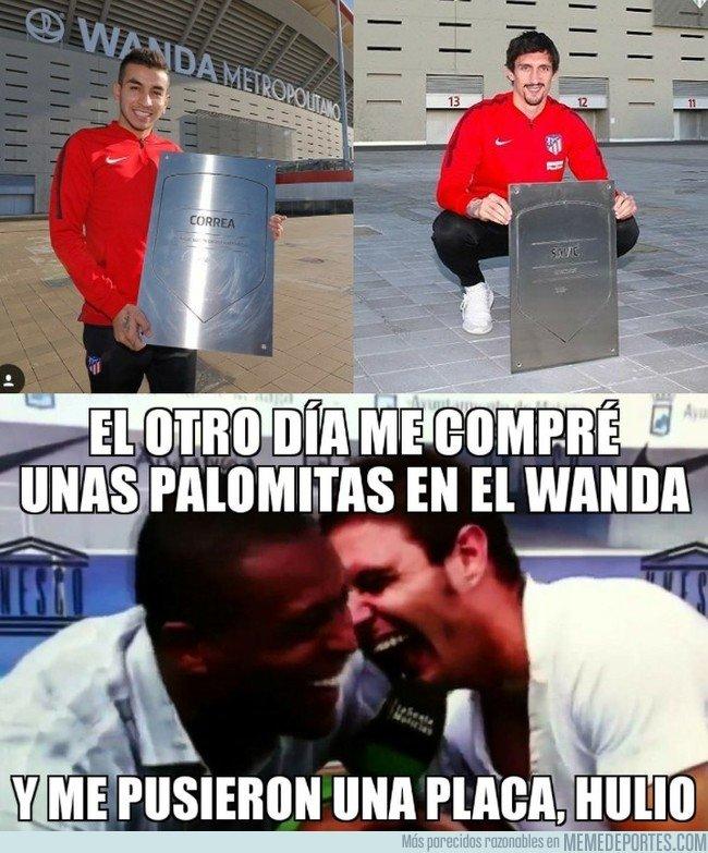 1030873 - Joaquín y las 'no muy difícil de conseguir' placas de leyenda del Wanda Metropolitano