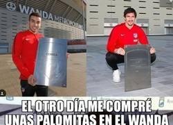 Enlace a Joaquín y las 'no muy difícil de conseguir' placas de leyenda del Wanda Metropolitano