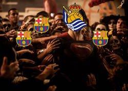 Enlace a La liga a punto para el Barça gracias a la Real Sociedad