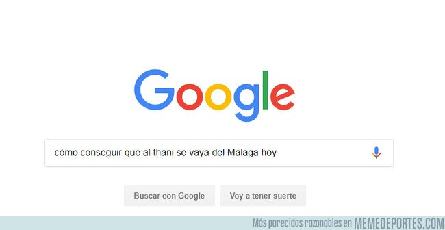 1031105 - A ver si a alguien se le ocurre algo medianamente decente para lograr que @ANAAThani se pire del Málaga