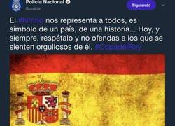 Enlace a Zasca monumental a la policía tras pedir respetar el himno de España en la final de Copa