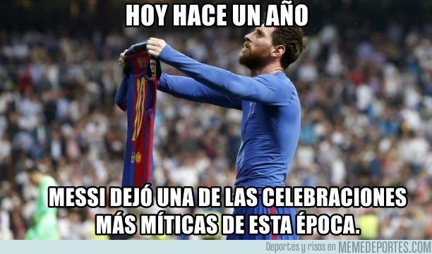 1031472 - La celebración de Messi en el Bernabeu