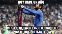 Enlace a La celebración de Messi en el Bernabeu