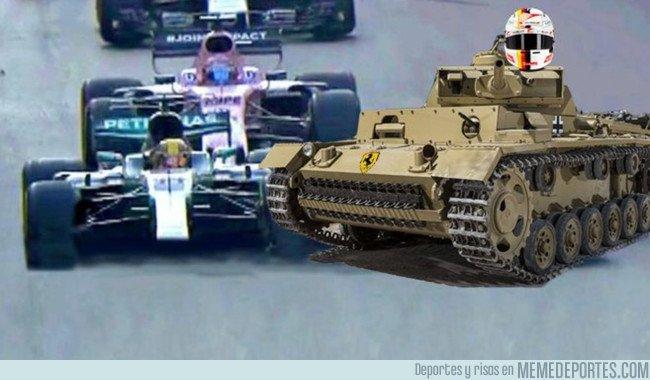 1031881 - El volantazo de Vettel a Hamilton cumple 1 año