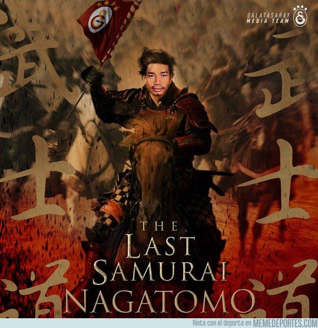 1032091 - Homenaje Del Galatasaray al último samurai verdadero