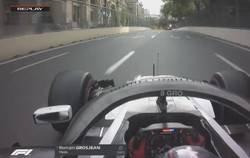 Enlace a Error de principiante de Grosjean en una carrera de locos