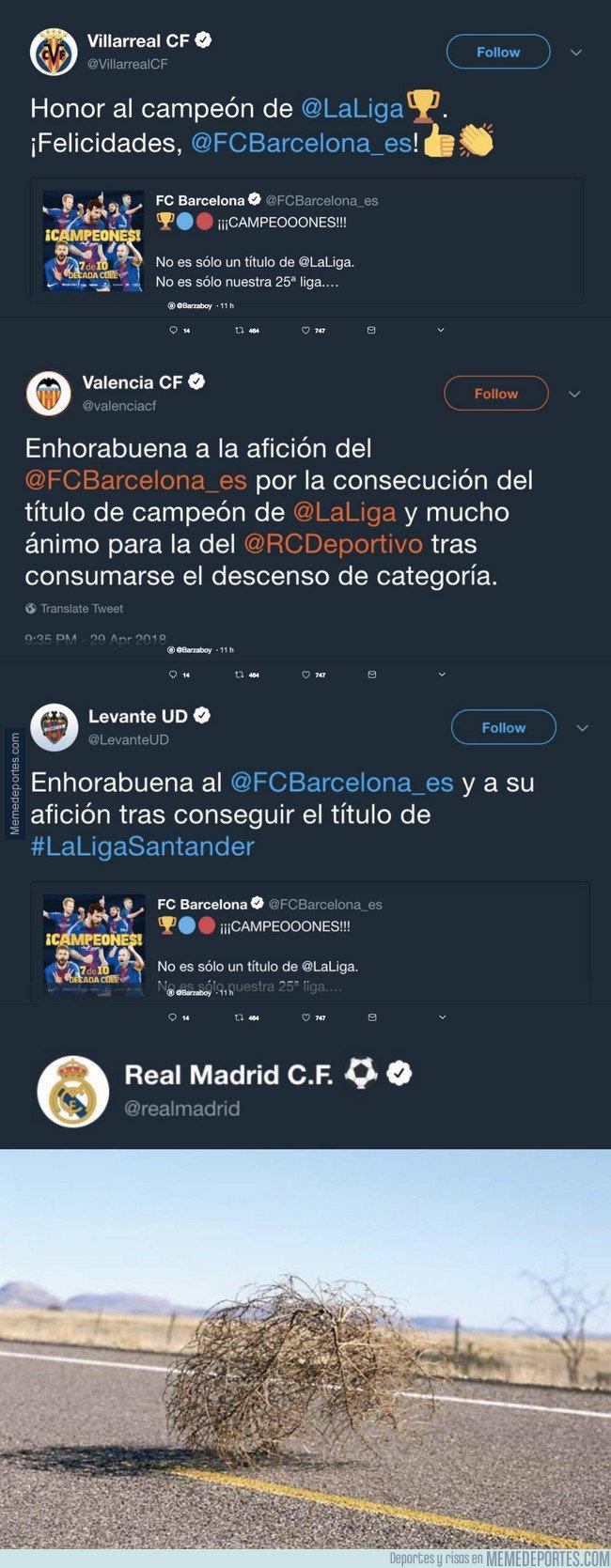 1032226 - Todos felicitando al Barça por su doblete y el Real Madrid...
