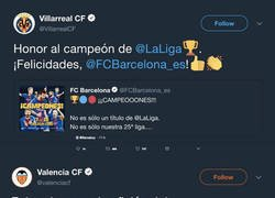Enlace a Todos felicitando al Barça por su doblete y el Real Madrid...