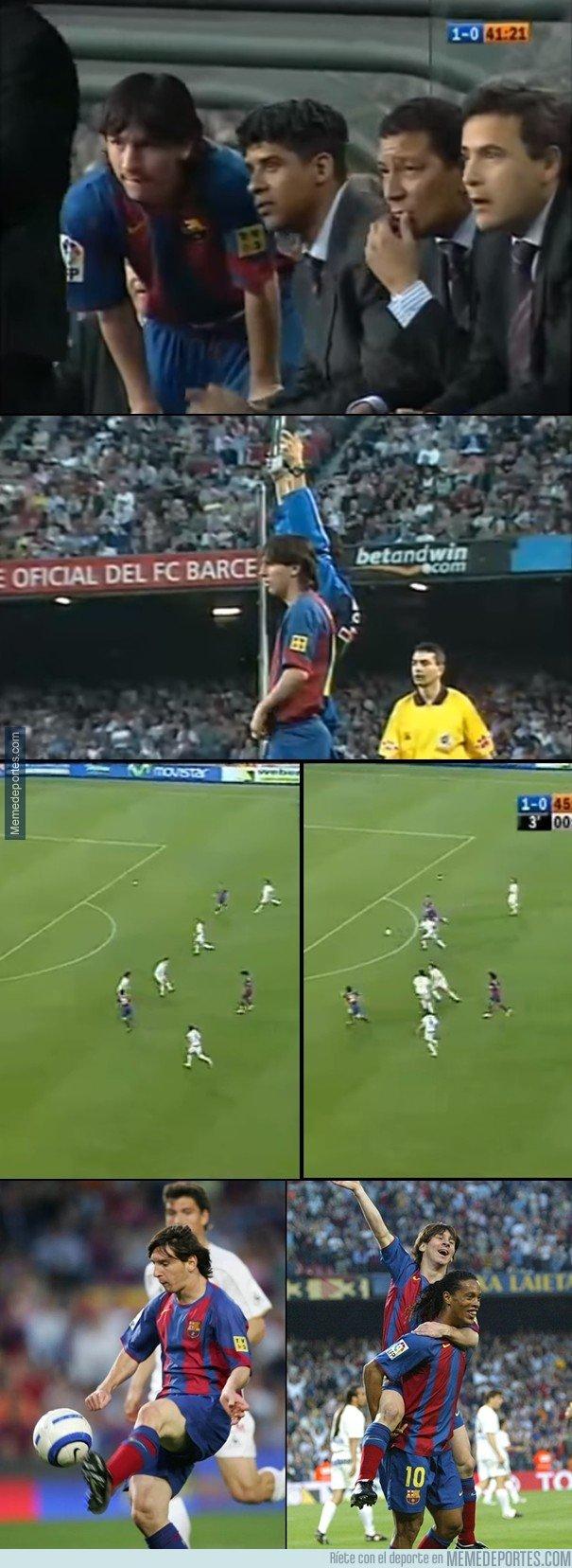 1032333 - El primer gol de Messi cumple hoy 13 años