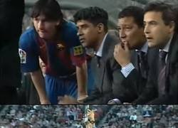 Enlace a El primer gol de Messi cumple hoy 13 años