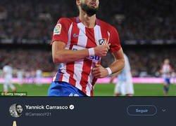 Enlace a Comparan a Yannick Carrasco con Benzema, él lo agradece y la afición del Atleti le ataca sin piedad
