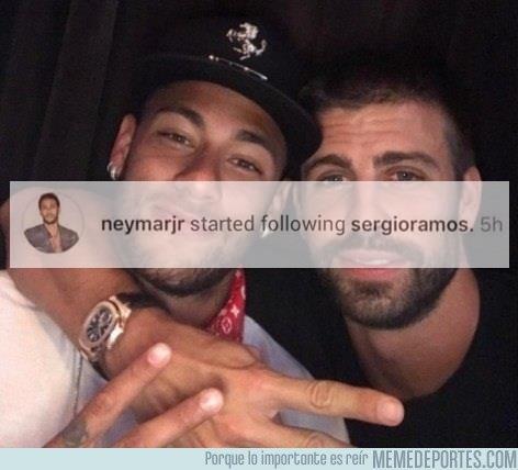 1033230 - Neymar sigue a Sergio Ramos en Instagram y lejos quedan los días del #SeQueda