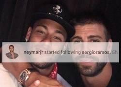 Enlace a Neymar sigue a Sergio Ramos en Instagram y lejos quedan los días del #SeQueda