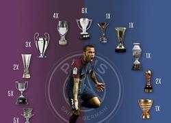 Enlace a Tras la copa francesa, Dani Alves es el jugador con más títulos