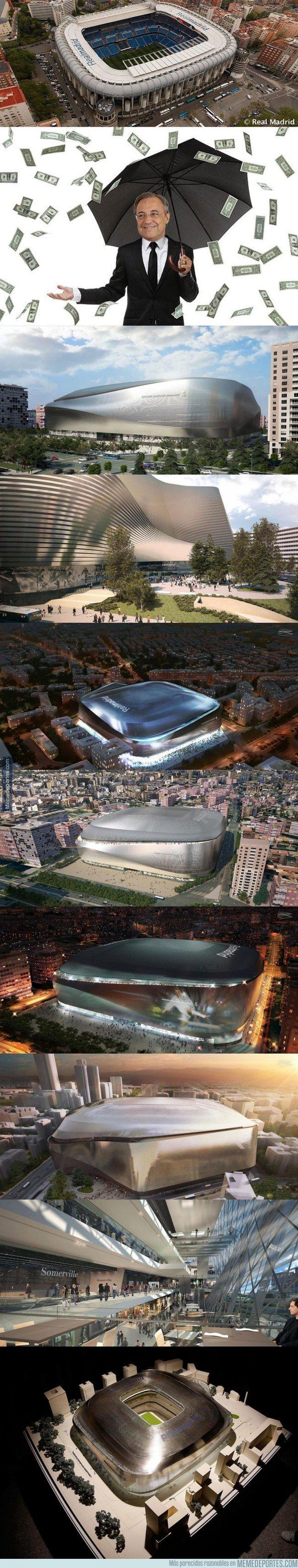 1033290 - Así quedará el Bernabéu tras la remodelación de 400 millones de euros que se quiere fundir tito Floren