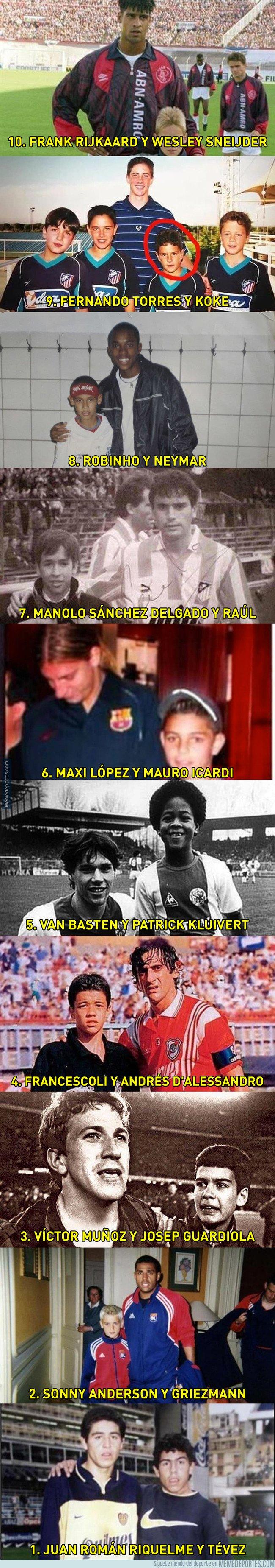 1033381 - 10 grandes futbolistas actuales que siendo niños se fotografiaron con jugadores famosos