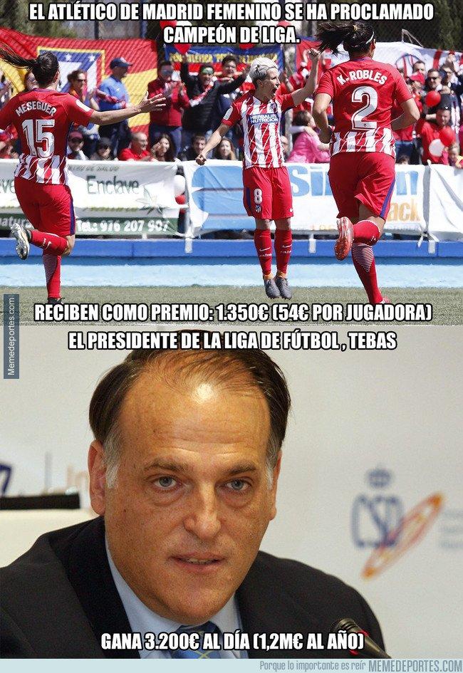 1033645 - El lamentable premio que reciben las jugadoras del Atlético de Madrid femenino por ganar LaLiga
