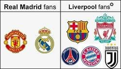 Enlace a Fans del Real Madrid y Liverpool