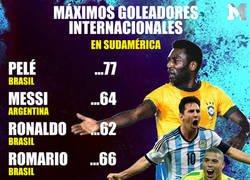Enlace a Messi supera a Ronaldo y va por el récord de Pelé de máximo goleador en selecciones sudamericanas