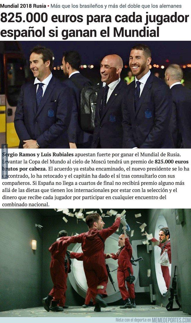 1036876 - La pedazo prima que se llevarán los jugadores de la selección española si ganan el Mundial