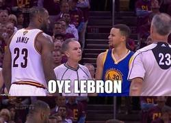 Enlace a Curry tiene un mensaje para LeBron