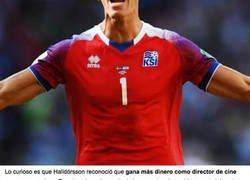Enlace a Dato curioso del día sobre Halldorsson, el portero de Islandia que le ha parado un penalti a Messi