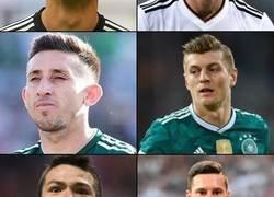 Enlace a El México-Alemania hombre por hombre