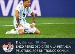 Enlace a Los insultos Argentinos a Enzo Perez después de haber fallado una ocasión sin portero