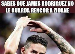 Enlace a James sigue admirando a Zidane