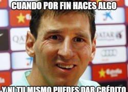 Enlace a Messi aparece por fin