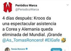 Enlace a La culpa de la eliminación de Alemania no es de nadie más, sino de Roncero después de este tweet