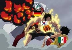 Enlace a Grupo F al más puro estilo de One Piece