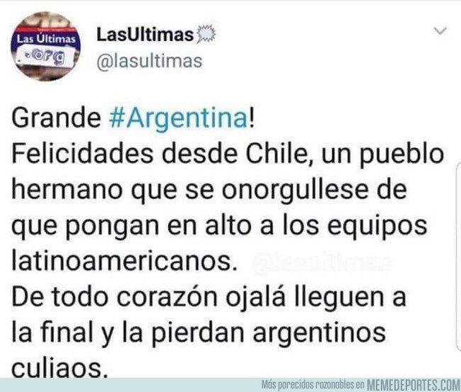 1041478 - Las sinceras felicitaciones a los argentinos de parte de los chilenos