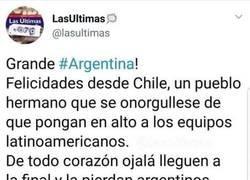 Enlace a Las sinceras felicitaciones a los argentinos de parte de los chilenos