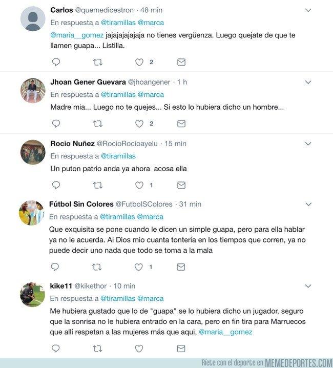 1043217 - María Gómez, la presentadora que denunció acoso en el Mundial, hace un comentario que jamás se hubiera permitido a un hombre