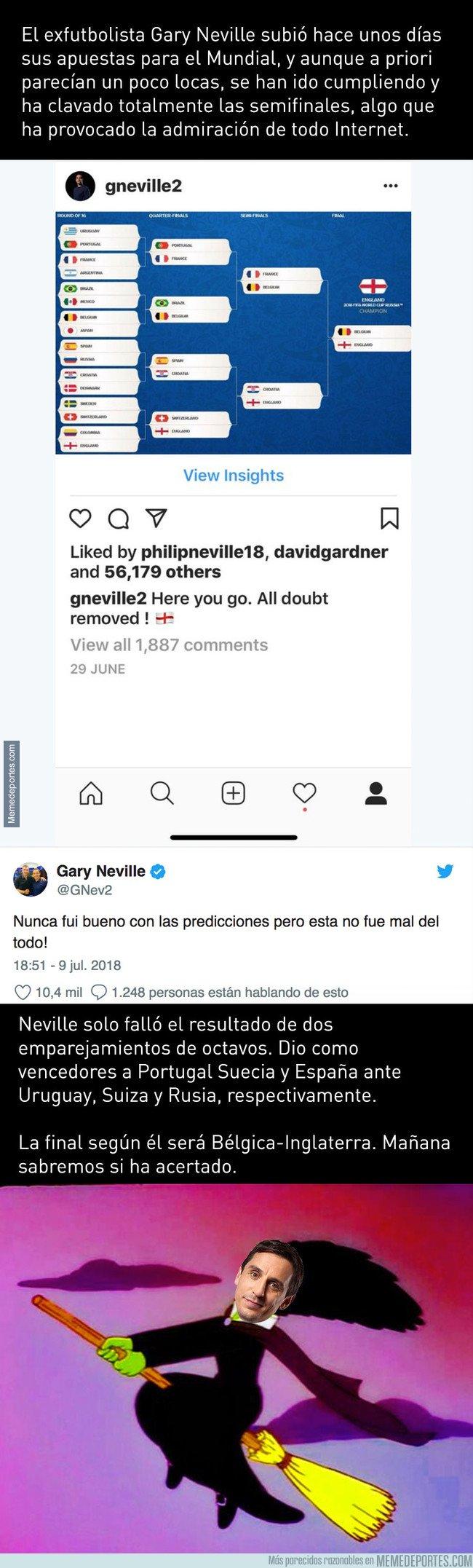 1044353 - Internet flipa con la predicción que hizo Gary Neville del mundial y cómo ha clavado las cosas