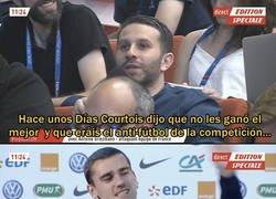 Enlace a Griezmann contestó a Courtois sobre el 'anti-fútbol.' Respuesta de discípulo de Simeone