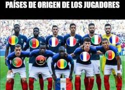 Enlace a Países de origen de los jugadores de la selección de Francia