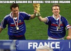 Enlace a Deschamps el héroe francés, presente en los 2 que ha ganado su selección