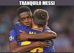 Enlace a Dembélé consuela a Messi