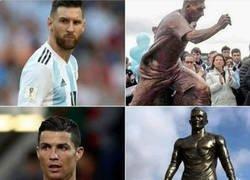 Enlace a Las esculturas de los cracks del fútbol