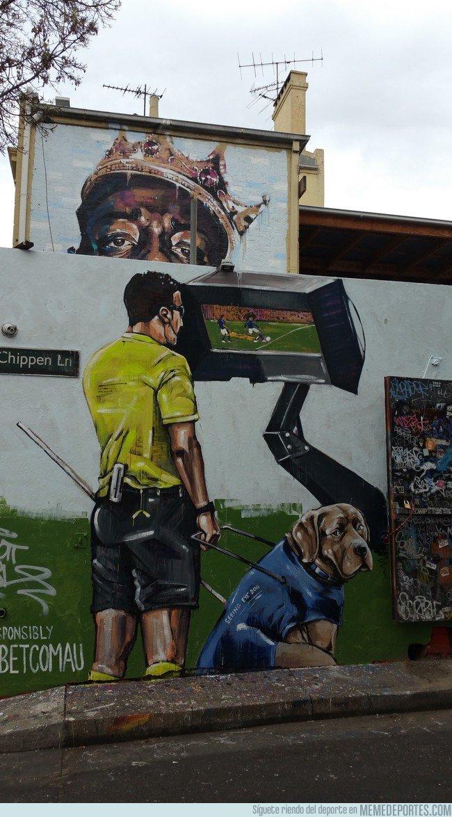 1045712 - El penalti de Griezmann con VAR inmortalizado en un mural en Sydney