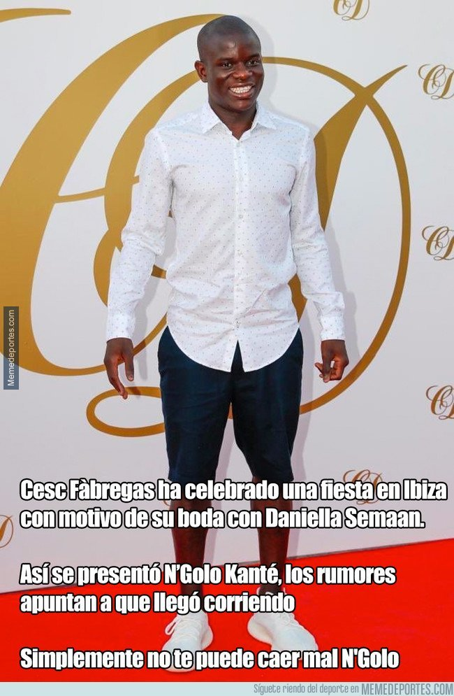 1046154 - Kanté en la boda de Cesc, por @Futbol_Secretos