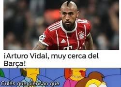 Enlace a Vidal, a un paso del barcelona